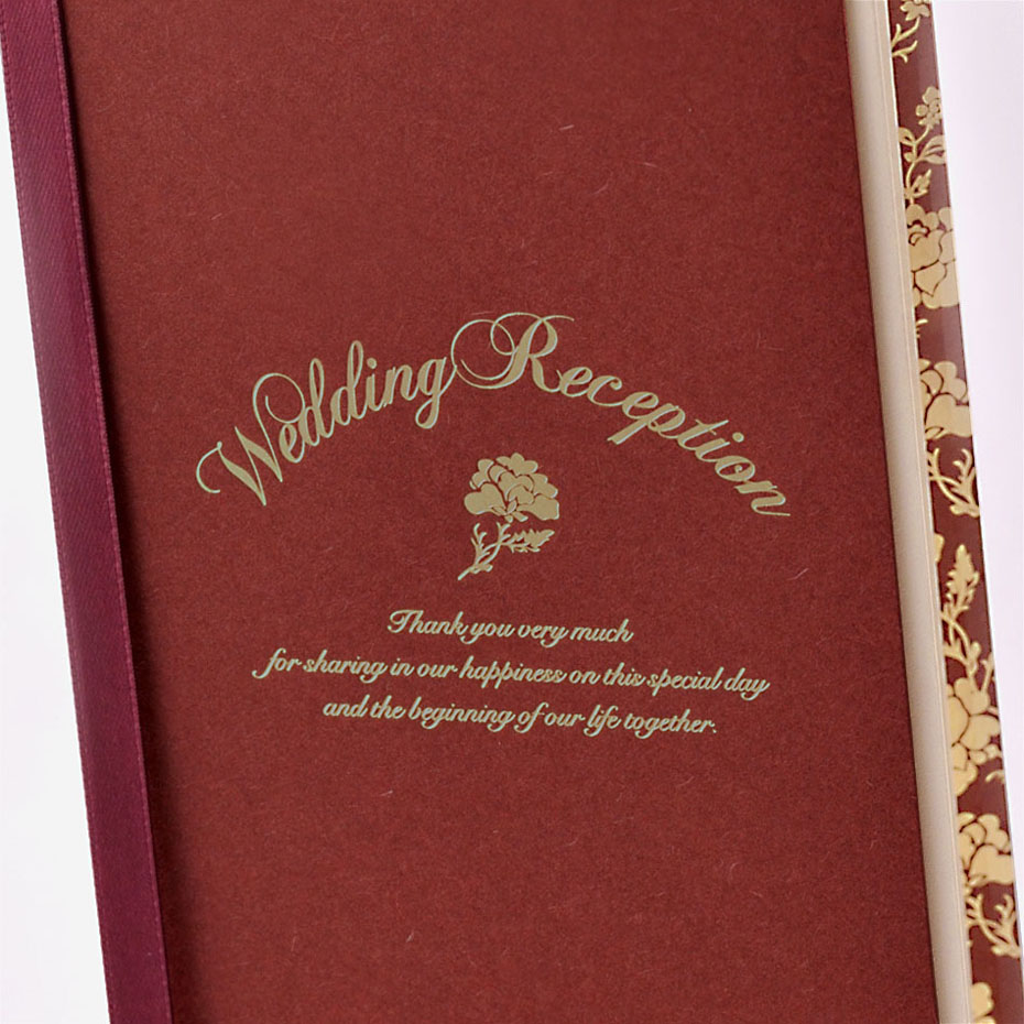結婚式・披露宴の席次表、ロージーボルドー